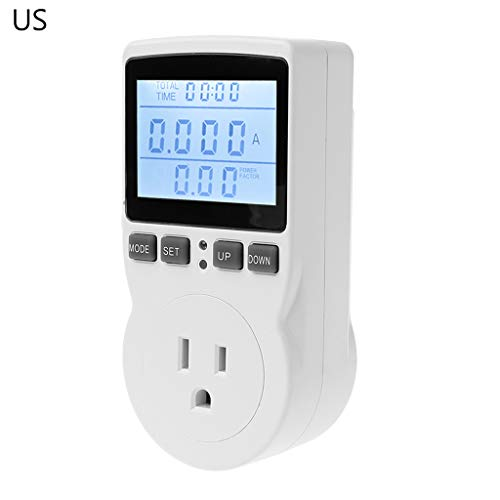 JunYe Digital Power Meter Socket EU/US/UK Plug Energy Meter Current Voltage Watt Electricity Cost Measuring Monitor Power Analyzer Electronic Outlet Socket - US -