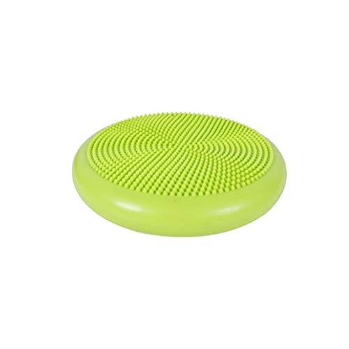 Qiaoxianpo01 Yoga-Ball, Yoga-Massagekissen-Ausgleichsplatte, gepolsterter, Dicker Anti-Aufruhr-Fitnessball (grün, Schlauch senden) (Color : Rosa)