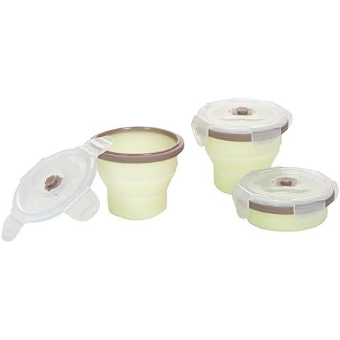 Babymoov A004404 - Pack de contenedores de silicona, 3 x 240 ml