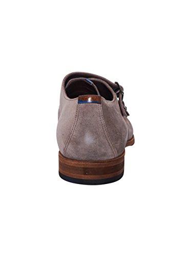 Floris van Bommel Herren Schuhe mit Schnallenverschluss in Beige-Grau 00 sand suede