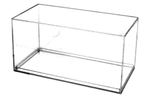 Pioneer Plastics hochwertige Modellautovitrine aus Acryl, Maßstab 1:32, mit 3M Klebepad, mit rechtwinkligen Kanten -