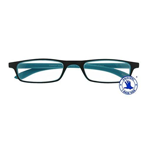I NEED YOU Lesebrille Zipper Selection SPH: 2,00 Farbe: grün-türkis, 1 Stück