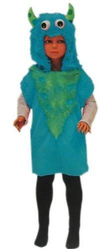 LIGHT BLUE MONSTER HOODED VEST 113cm/134cm FOR FANCY DRESS COSTUME (Fancy Dress Monster)