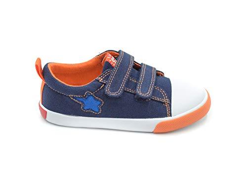 Garvalín Berto, Zapatillas para Niños, Azul Azul Marino Pique Paprika, 28 EU