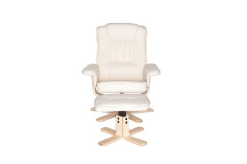 Amstyle Comfort Relaxsessel mit Hocker - 4