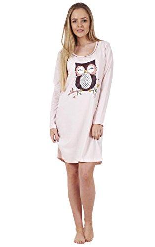 BHS Ladies Printed Cotton Nightdress Womens Long Sleeve Cami Nightie ... 2bea8cc81