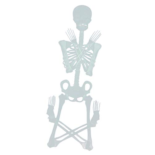 F Fityle Leuchtende Schädel Körper Beängstigend Halloween Spielzeug Spukhaus Tricks Requisiten Spielzeuge - 150x28cm