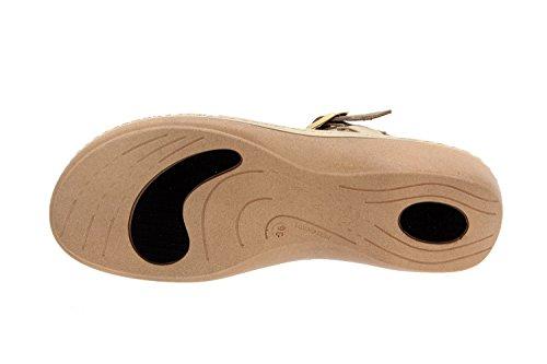 Scarpe Da Donna Comfort In Pelle Piesanto 2812 Sandali Scarpe Solette Estraibili Comode Ampio Beig