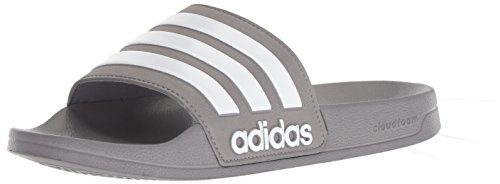 adidas - Adilette Shower Uomo, Grigio (Grey/White/Grey), 44 EU