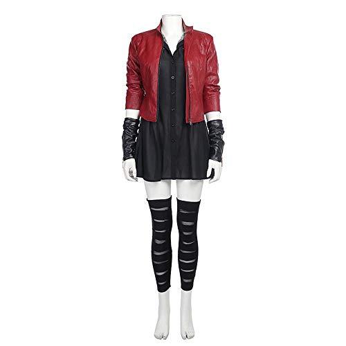 Kostüm Scarlet - Marvel Kostüm Verkleidung, Avengers 2 Österreichische Ära Scarlet Witch COS Kleidung Upgrade Version Cosplay Kostüm Full Set-M