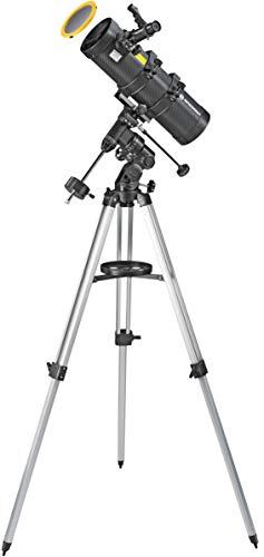 Bresser Spica 130/1000 EQ3 - parabolisches Spiegelteleskop für Nacht und Sonnen mit Smartphone-Adapter und hochwertigen Objektiv Sonnenfilter zur gefahrlosen Beobachtung der Sonne im Weisslicht