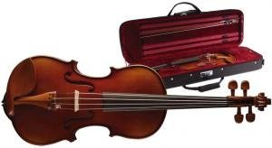 4/4mit massiver geflammter Ahorn Violine Geige Deluxe Soft Case 4/4Violine und Deluxe Softcase (Deluxe Soft Case)