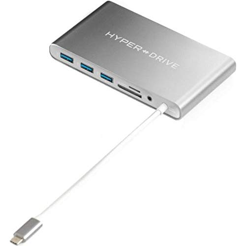 Hyperdrive Ultimate USB-C Hub for Macbook & PC, 11-in-1 Hub with built in  USB-C cable: USB-C 5Mbps, 60W Power Delivery, USB-C 5Gbps Data, VGA, 4K