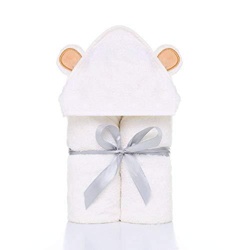 TMMDZZ Premium Baby Towel Baby Washcloth Set Organic Bamboo Baby Towel Extra Morbido E Spessa Asciugamano con Cappuccio Neonato Bambino Washcloth
