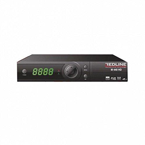 Redline M440 HD Plus Full HD Sat FTA IPTV Youtube USB Receiver (HDTV, DVB-S2, HDMI, SCART, USB 2.0, Full HD 1080p) [vorprogrammiert] - Schwarz