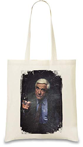 Die nackte Pistole - The Naked Gun Custom Printed Tote Bag| 100% Soft Cotton| Natural Color & Eco-Friendly| Unique, Re-Usable & Stylish Handbag For Every Day Use| Custom Shoulder Bags By Design Things (Gun Custom Griffe)