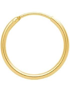 Gold 14 k ( 585 ) Ohrringe - Creolen - Ø 20 mm