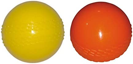 KITSAWS Sports Cricket PVC Rubber Wind Ball Pack of 2