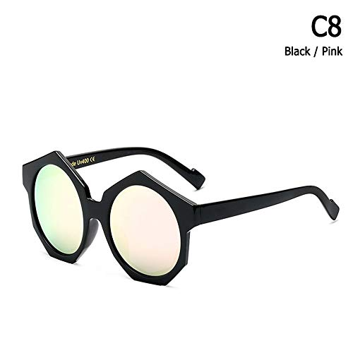 ZHOUYF Sonnenbrille Fahrerbrille Mode Coole Hexagon Frame Sonnenbrille Männer Frauen Trend Street Snap Marke Design Sonnenbrille Oculos De Sol, B