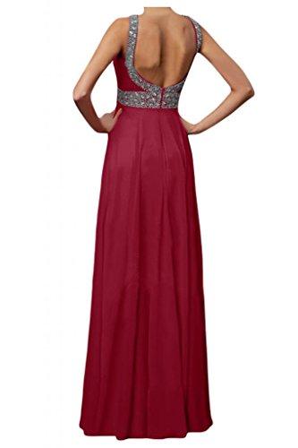 Toscana sposa donna moda Chiffon Rueckenfrei sera vestimento per giovane sposa color Ball Bete party vestimento rosso vivo