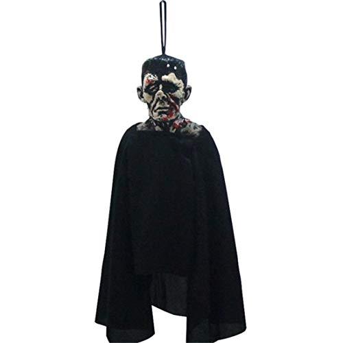 Mitlfuny Halloween Ausziehbare Fearsome Pendant Papier Dekorationen Partei Requisiten Hexe Vampir Beetle Hexe Faltbar Zum AufhäNgen Papier (A)