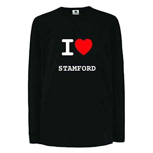 JOllify STAMFORD Kinder Junge Mädchen Langarm T-Shirt - Design: I love- Ich liebe - Größe: 164-14-15 Jahre