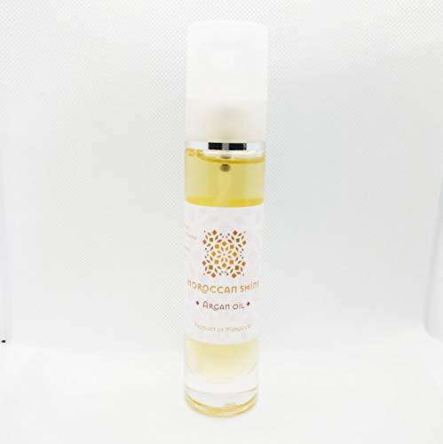 Huile d'Argan Cosmétique 50ml Moroccan Shine Argan Oil 100% Bio Pure Produit Hydratant Nourrissant Réparateur Anti-Âge Idéal Soin de Beauté pour Peau Corps Visage Cheveux Ongles