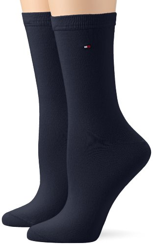 Tommy Hilfiger Damen Socken TH WOMEN SOCK CASUAL 2P, Gr. 35/38, Blau (jeans)