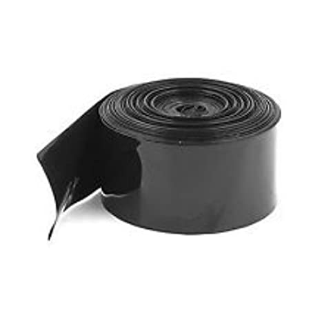 Lay Flat PVC Heat Shrink Tubing Wrap 150mm (Ø94.33mm) BLACK - LiPO NiMH NiCd 5 meters