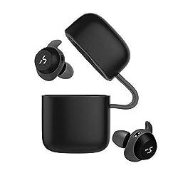 HAVIT TWS V5.0 Bluetooth Kopfhörer Wireless Headset in Ear,Sport Joggen Ohrhörer Minikopfhörer, IPX5 Wasserdicht, Eingebautes Mikrofon,G1 Schwarz
