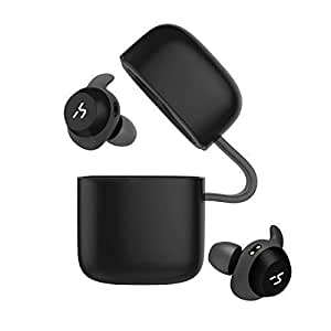 HAVIT TWS Bluetooth In-ear Earphones True Wireless Stereo Earbuds, Storage Box with Charging Function and 18-Hours Play Time, Waterproof and Artificial Intelligence Support (G1, Black+Grey)