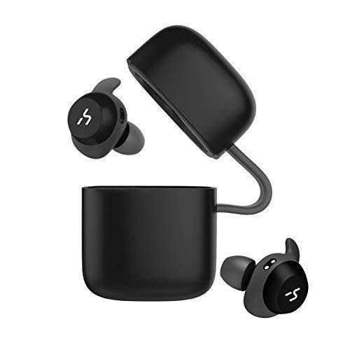 HAVIT TWS Bluetooth Kopfhörer Kabellose in Ear V5.0, True Wirelss Stereo Sport Ohrhörer, IPX5 Wasserdicht, 18 Stunden Abspielzeit, Eingebautes Mikrofon für iPhone,Samsung und Huawei, HTC,G1 Schwarz thumbnail