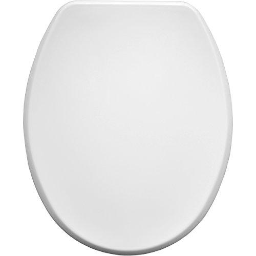 = Bemis Memphis 4402CP – Tavoletta WC in legno modellato, con cerniere cromate, colore: bianco prezzo