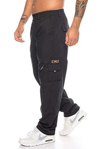 Herren Schlupfhose Cargohose Cargo Lange Hose Pants Arbeitshose Men  Freizeithose (XXXL, Schwarz) f7546e0f5b