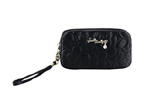 jacki-design-abc14016bk-royal-blossom-cosmetic-bag-with-wristlet-black-by-jacki-design