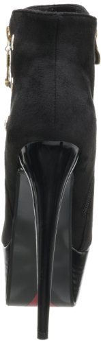 Plateau-Stiefeletten Booties AR LEEN by Luichiny Black Suede