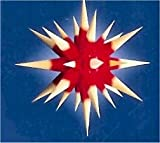I4, roter Kern / gelbe Spitzen, komplett mit Beleuchtung, Weihnachtsstern Herrnhut für Innen, aus Papier, Durchmesser 40 cm, zur Selbstmontage, Dekoration, Deko, Adventsstern, Stern, Sterne, Advent, Weihnachten, original Herrnhuter Stern