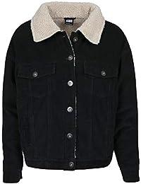 BetterStylz Damen Winterjacke Übergangsjacke KendallBZ Oversize Sherpa Cord  Jacke mit Teddyfell 9ad7453196
