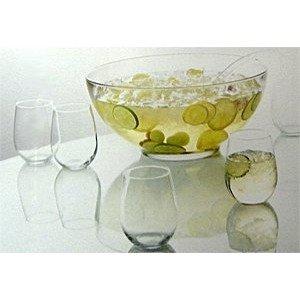 Anchor Hocking ® 10 Stück (Vorhandensein Bowlegefäß 6.6L), Set mit 8 Gläser Weingläser (15 oz) und Bowlelöffel (in Geschenkbox)