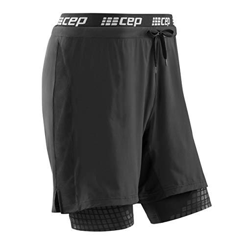 CEP - Training 2IN1 Shorts 3.0 für Herren | Kurze Trainingshose mit Kompression in schwarz | Größe XL