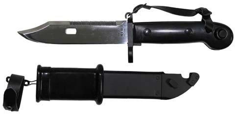 MFH Bajonett, AK 47 mit Scheide, schwarzer Griff
