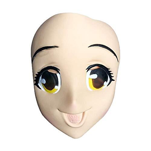 Rcraftn Halloween Großäugige Mädchen Masken Latex Scary Horror Maske Vollgesichtsdekoration Handwerk Anime 3D Cosplay Maske Kostüm Dress Up Maskerade Party Requisiten Masken Für Erwachsene (Scary Halloween-kostüme Teenager-mädchen)