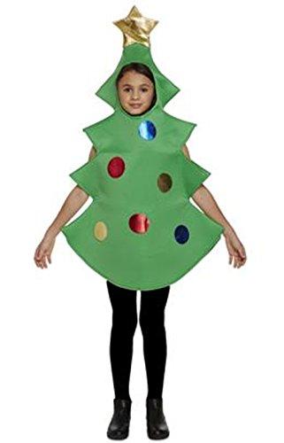 Bambino Albero di Natale Costume Età 7-9 anni