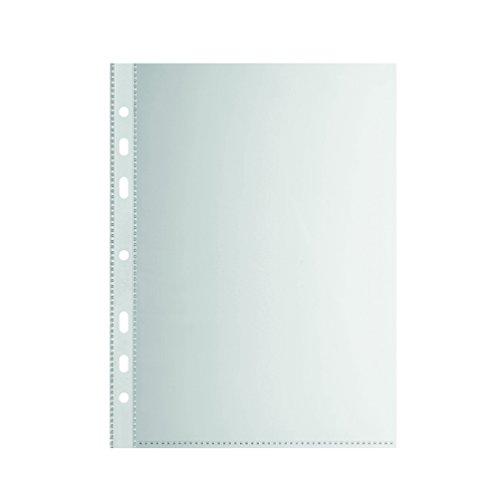 Falken Standard PP-Kunststoff Prospekthüllen für DIN A5 transparent genarbt oben offen 100er Pack Klarsichtfolie Plastikhülle Klarsichthülle ideal für Ordner Ringbücher und Hefter