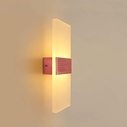 Acryl led wandleuchte schlafzimmer nachttischlampe wohnzimmer kreative moderne minimalistische flur gang nordischen beleuchtung, rose gold 27 * 10cm6 fliese