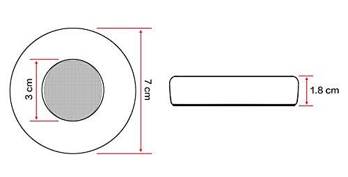 WEWOM 2 Ersatz Ohrpolster für AKG Y50 Y50BT Y55 Kopfhörer, Schwarz - 4
