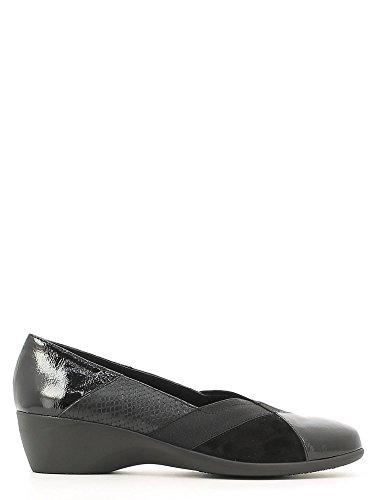 Stonefly 107000 000 Licia 28 scarpe donna mocassino decolletè zeppa nero comoda con elastici n° 35
