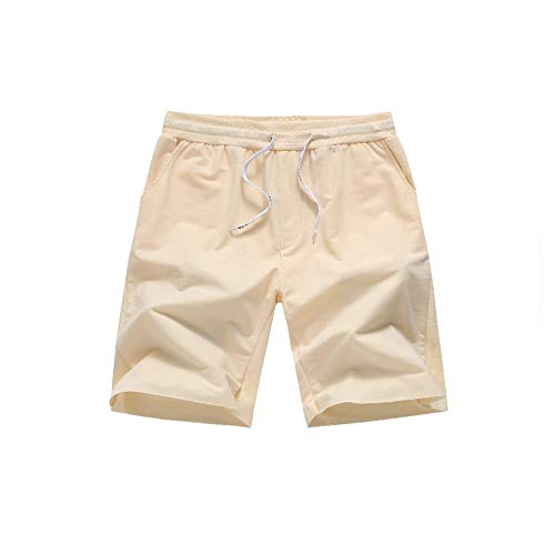 New Men Leisure Sports Shorts Mens Summer Casual Cool Short Pants Male Jogger Workout Beach Brand,Khaki,M