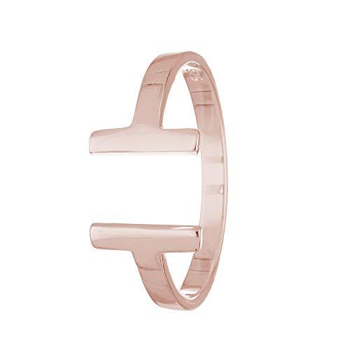 Treuheld Ring - 925 Silber - T-Form [32.] - Rosegold 56