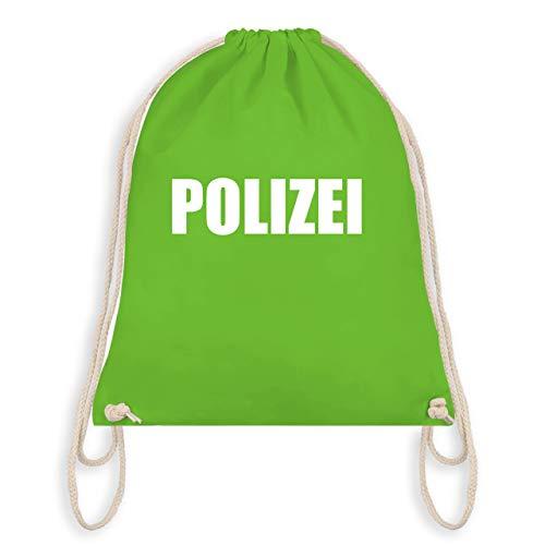(Karneval & Fasching - Polizei Karneval Kostüm - Unisize - Hellgrün - WM110 - Turnbeutel & Gym Bag)